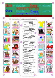 English Worksheets: this-these-that-those