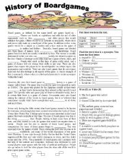 English Worksheets: The History of Board Games