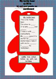 English Worksheets: My teddybear