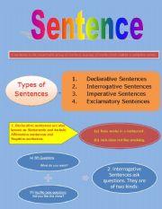 English Worksheets: Sentence