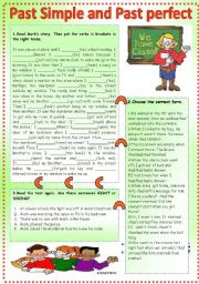 English Worksheet: past simple and past perfect