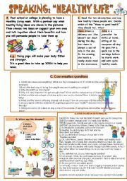 English Worksheet: SPEAKING: