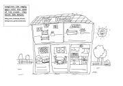 English worksheet: My house worksheet