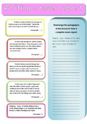 English Worksheet: writing a report 2