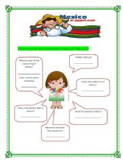 English Worksheet: WELCOME TO MEXICO!