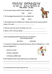 English Worksheets: Toy Story 3