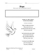 English Worksheets: Hope
