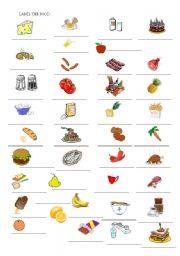 Food - countable and uncountable nouns
