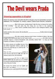 English teaching worksheets: Devil Wears Prada