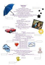 English Worksheets: Rihanna-Umbrella