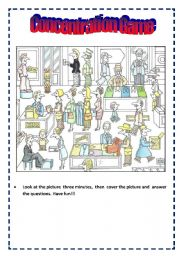 English Worksheet: CONCENTRATION GAME
