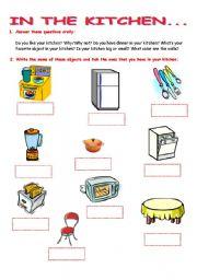 In The Kitchen Esl Worksheet By Crisprata