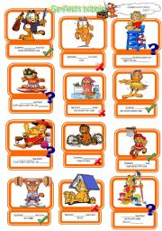 English Worksheet: The verb Can with Garfield
