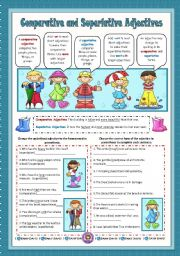 English Worksheets: Comparative and Superlative Adjectives
