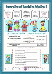 English Worksheets: Comparative and Superlative Adjectives 2