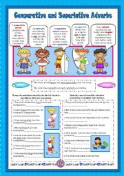 English Worksheets: Comparative and Superlative Adverbs
