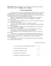 English Worksheets: how the thief was found
