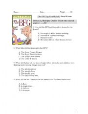Worksheet Bfg Worksheets bfg worksheets narrativamente the by roald dahl final