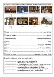 English Worksheets: WALLACE and GROMIT BE+ ING Worksheet N�2