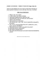 English Worksheets: american horror comprehension exercises