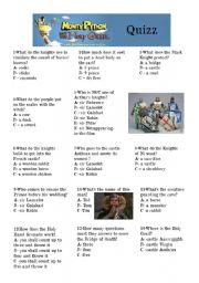 Monty Python Holy Grail Quizz