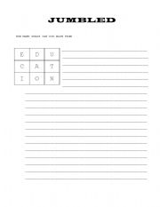 English worksheet: HOW MANY WORDS CAN YOU MAKE FROM