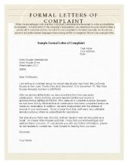 Example Of Complaint Letter from www.eslprintables.com
