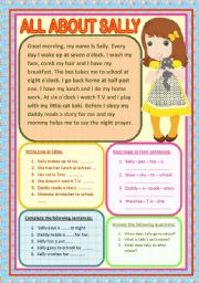 English Worksheets: ALL ABOUT SALLY
