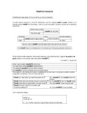 English Worksheets: past times
