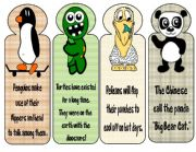 English Worksheets: BOOKMARKS- Animals2
