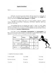 Printables Stress Worksheets english teaching worksheets word stress worksheet