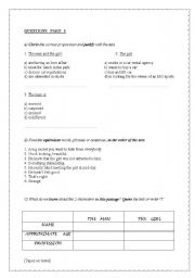 English Worksheets: �Skeleton in the Closet� part 3 : 7 pages questions + complete key