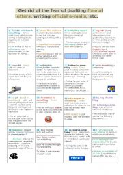 English Worksheet: This colorful guide �Get rid of the fear of writing formal letters, e-mails, faxes, etc� gives you a real insight into corresponding with confidence