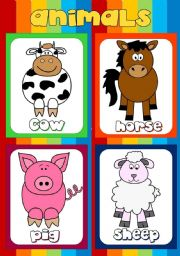 English Worksheets: Animal flashcards (2)