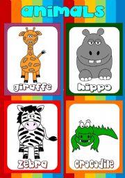 English Worksheets: Animal flashcards (3)