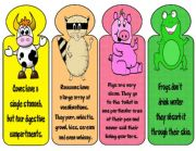 English Worksheet: BOOKMARKS- Animals3