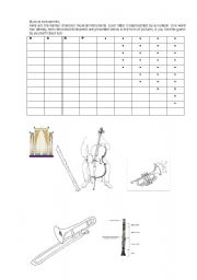 English Worksheets: musical intruments