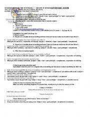 English Worksheets: Regrets