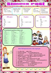 Past SimpleRegular and Irregular Verbs (keyncluded)
