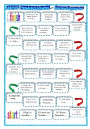 English Worksheet: Conditional Type 1 board game