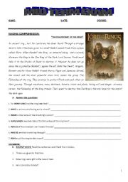 english teaching worksheets the lord of the rings. Black Bedroom Furniture Sets. Home Design Ideas