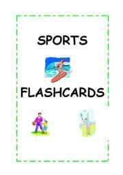 English Worksheet: Sports flashcards. ****7 flashcards******