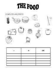 English worksheet: food+desserts