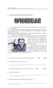 English Worksheet: Spiderman