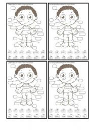 English Worksheet: Parts of the human body