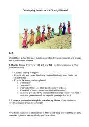 English Worksheet: Charity Dinner Group Task