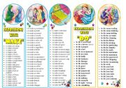 English Worksheets: Bookmarks -  Expressions with Do & Make - 2 pages