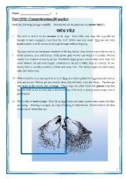 English Worksheets: A complete version of reading comprehension, including 5 sections (long questions, MC, vocabulary, references), with anwer keys and answer sheet