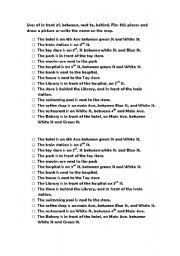 English Worksheets: IN FRONT, BETWEEN, BEHIND, NEXT TO