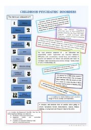 English Worksheets: Childhood psychiatric disorders